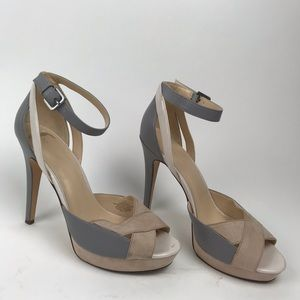 Nine West 11M High Heels Open Peep Toe Pumps Shoes